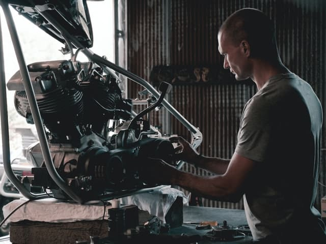 a car mechanic working